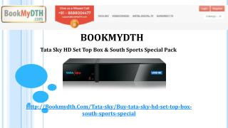 Tata Sky | Tatasky Packages - Only @ BookMyDth.com