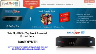 Tata Sky HD Set Top Box & Dhamaal Cricket Pack @ BookMydth.com