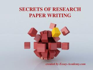 Secrets of Research Paper Writing