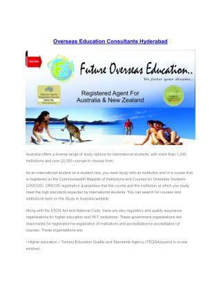 Overseas Education Consultants Hyderabad
