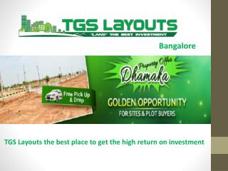 TGS Layouts Plots and Sites in Bangalore