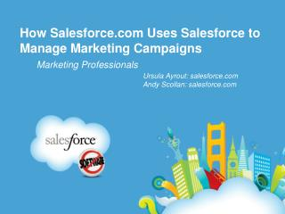 How Salesforce can be Used to Manage Marketing Campaigns