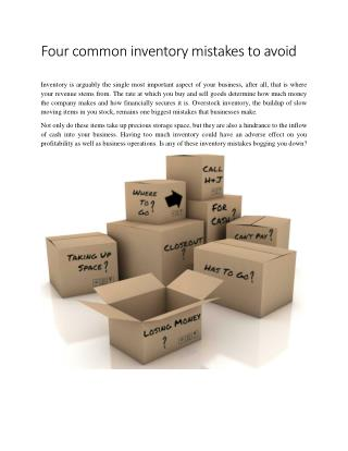 Four common inventory mistakes to avoid