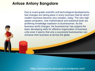 Reviews on Antose Antony Bangalore