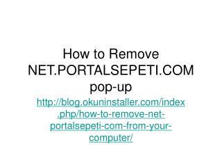 How to Remove Net.portalsepeti.com