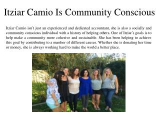 Itziar Camio Is Community Conscious