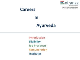 Careers In Ayurveda