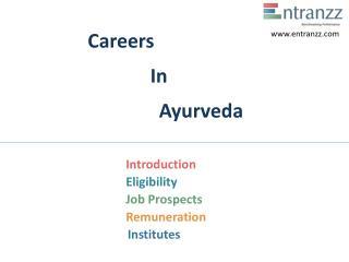 Careers In Ayurveda