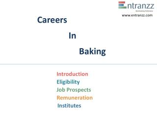 Careers In Baking