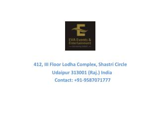 Top Wedding Planner in Udaipur