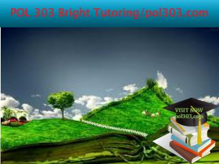 POL 303 Bright Tutoring/pol303.com