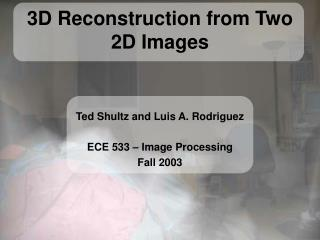 3D Reconstruction from Two 2D Images
