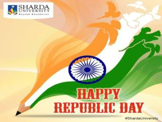 Sharda University Celebrating Republic Day