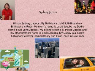 Sydney Jacobs