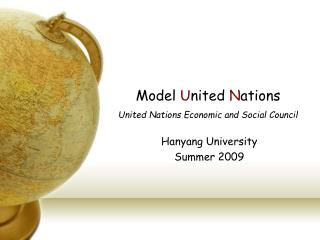 Model  U nited  N ations United Nations Economic and Social Council
