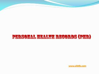 Personal Health Records in Tampa, Florida, USA
