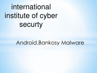 Android.Bankosy Malware
