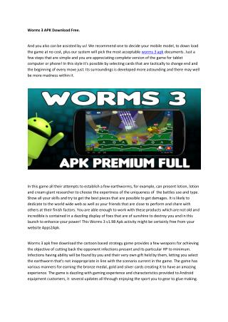 worms 3 apk download