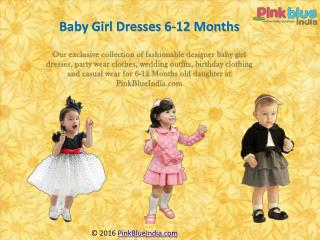 Designer Partywear Clothes for 6-12 Months Baby Girls