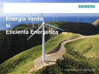Energia Verde si  Eficienta Energetica