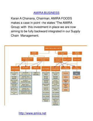 Amira Business Karan chanana by Amira Nature Foods Ltd