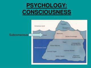 PSYCHOLOGY: CONSCIOUSNESS