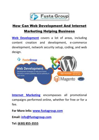How Can Web Development And Internet Marketing Helping Business
