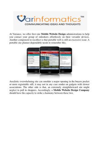 Mobile Website Design Company