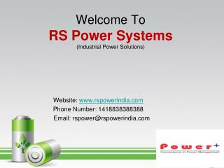 RS Power Systems - Industrial Power solution