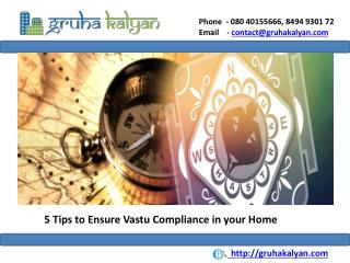 5 Tips to Ensure Vastu Compliance in your home
