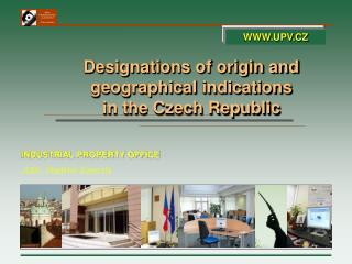 Designations  of origin and geographical  indications in the Czech Republic