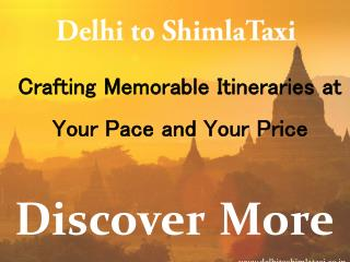 Taxi Delhi to Shimla | Taxi from Delhi to Shimla
