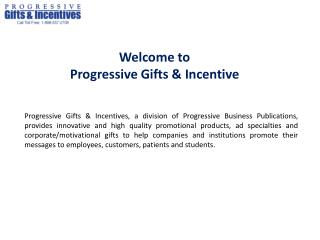 Welcome to Progressive Gifts & Incentive