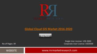 Cloud GIS Market Global Forecasts for 2016 – 2020