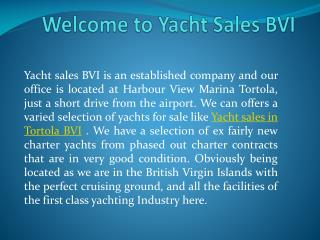 Yacht Sales BVI