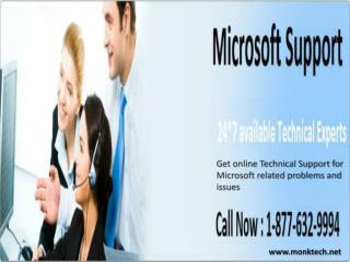 Microsoft Technical Support Phone Number 1-877-632-9994