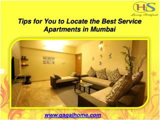Tips for You to Locate the Best Service Apartments in Mumbai.ppt