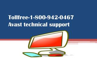 Call -1-800-942-0467 Avast toll free