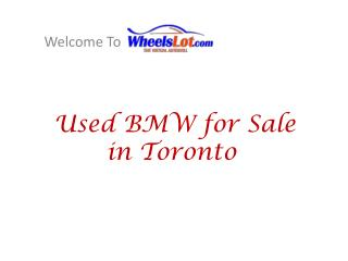 Used BMW Car for Sale in Toronto