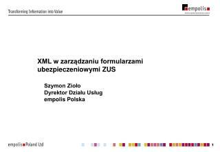 XML w zarządzaniu formularzami ubezpieczeniowymi ZUS