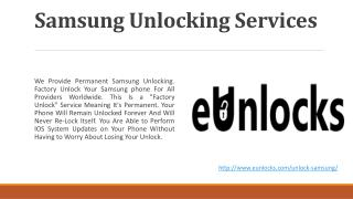 Samsung Unlocking Services in Toronto