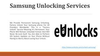 Samsung Unlocking Services in Toronto