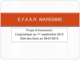 E.F.A A.R. WAREMME