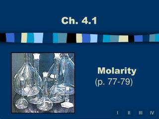 Molarity (p. 77-79)