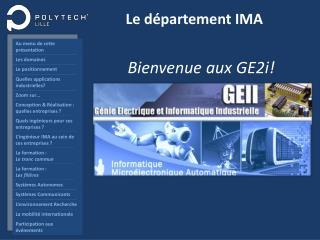 Le département IMA