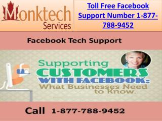 Facing Any Technical Issue Call Facebook Support Number(24X7) 1-877-788-9452