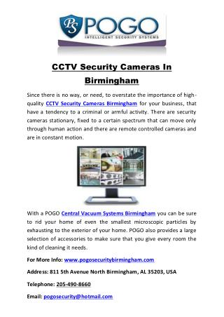 CCTV Security Cameras In Birmingham