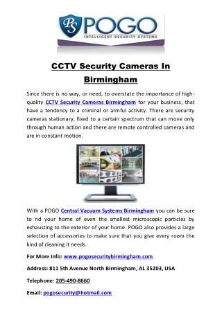 CCTV Security Cameras In Birmingham