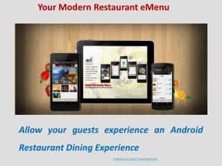 Restaurant Digital Menu