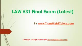 Uop business law 531 final exam question answers